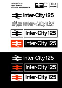 InterCity 125 logo rulebook, 1980