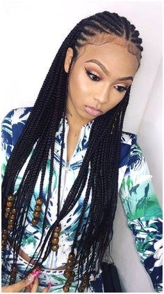 Corn Braids Hairstyles, Latest Braided Hairstyles, Protective Hairstyles For Natural Hair, Braided Hairstyles For Black Women, Braided Hairstyles For Wedding, Braids For Black Hair, Cool Hairstyles, Natural Hair Styles, Long Hair Styles