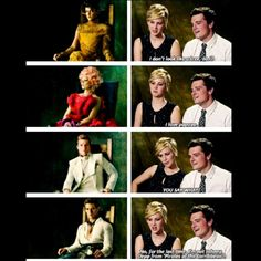 The Hunger Games Cast Interview-What are the people in these pictures thinking?
