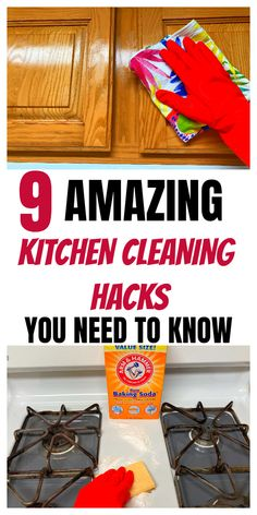 Here are some of the best kitchen cleaning hacks and tips you will need to know when you are doing your weekly, monthly or sometimes daily cleaning. Daily Cleaning, Kitchen Cleaning, Cleaning Hacks, Diy Cleaning Products, Cleaning Solutions, Getting Organized At Home, Tidy Up, Household Tips, Declutter