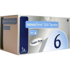 NOVOFINE 6 mm Kanülen 32 G Tip etw:   Packungsinhalt: 100 St Kanüle PZN: 05049790 Hersteller: Novo Nordisk Pharma GmbH Preis: 25,66 EUR…