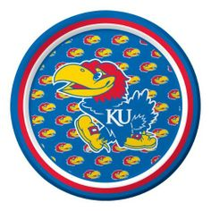 Creative Converting Kansas Jayhawks Dessert Paper Plates (8 Count) by Creative Converting. $5.99. From the Manufacturer                With over 80 years of combined experience in the paper and party goods industry, Creative Converting has successfully established itself as a highly respected designer, manufacturer and distributor of disposable tableware, including paper napkins, plates, cups, table covers and plastic cutlery in a variety of solid colors as well as ensemble desi...