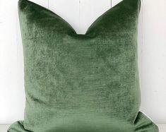 Eucalyptus Velvet Cushion Cover Handmade Cushions, Velvet Cushions, Contemporary Interior Design, Plant Decor, Throw Pillows, Classic, Cover, Fashion Design, Home Decor