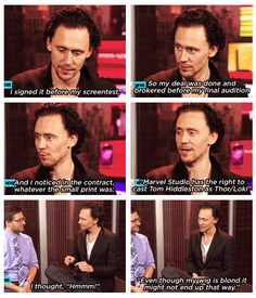 Wonderful actor...but I don't think the role of Thor suits him.  He's wonderful as Loki.