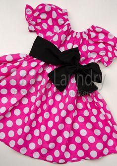 Minnie inspired Peasant Twirl Dress