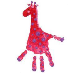 handprint animal crafts for kids Preschool Classroom, Toddler Preschool, Animal Crafts For Kids, Kids Crafts, Infant Activities, Activities For Kids, Bookshelves Kids, Handprint Art, Daycare Crafts