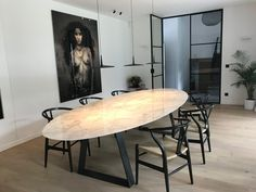 Oval Table, Dining Room Table, Metal Furniture, Table Furniture, Dining Room Inspiration, Ceramic Table, Home Decor Styles, Decoration, New Homes