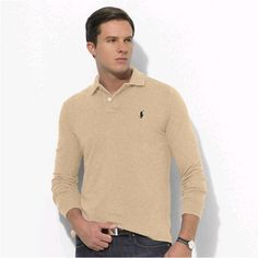 Ralph Lauren Soft Mesh Long Sleeved Chestnut Men Polo [rl 1016] - ��29.62