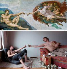 Una moderna interpretación de una pintura clasica