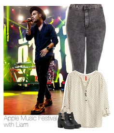 """""""Apple Music Festival with Liam"""" by evelyn24tomlinson ❤ liked on Polyvore featuring Topshop, H&M, Forever 21, OneDirection and LiamPayne"""