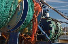 filets de pêche bateau au Guilvinec