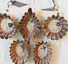 vintage tart tins made into magnets   ClothandPatina @ etsy                                                                                                                                                      More