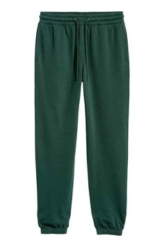 Pantaloni da tuta Regular fit - Verde scuro - UOMO | H&M IT