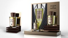 perfume luxury man suit tie elegant italy Intensa Acqua Di Parma Counter Display Sotano Studio