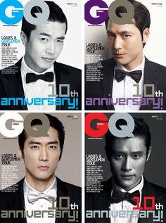 Kwon Sang Woo, Jung Woo Sung, Lee Byung Hun & Song Seung Hun for GQ Korea