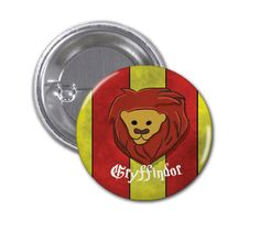 Gryffindor Button Badge Harry Potter 1 1/2 inch by SkahfeeStudios