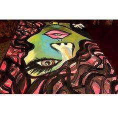 Canvas art women #myart