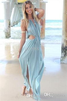 aeb46edf6e1d Splash your summer with this Irresistible Bohemian Beach Maxi Dress. Made  of broadcloth