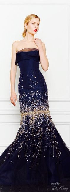 Carolina Herrera Sparkle Midnight Blue Gown of Gorgeous! ht