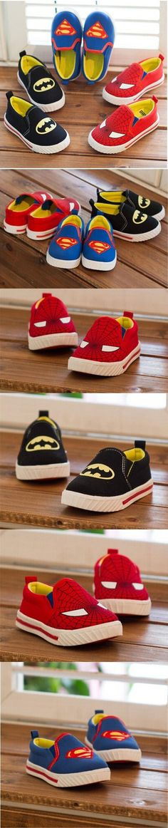 Batman superman spiderman baby kid sneaker shoes casual canvas shoes for 1-6yrs boys girls teenager children shoes hot sale $12.12