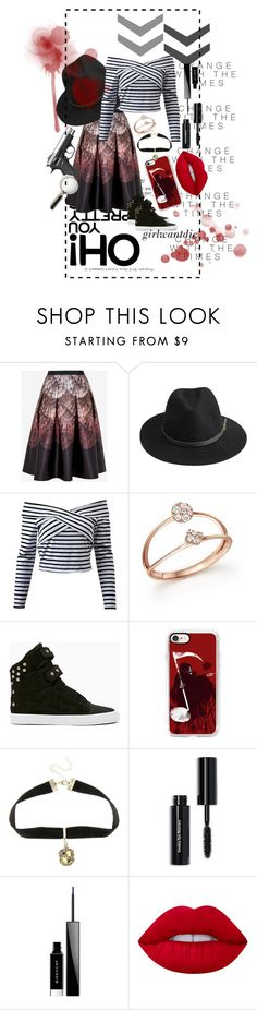 """""""Look More Closely"""" by girlwantdie on Polyvore featuring beleza, Ted Baker, BeckSöndergaard, Bloomingdale's, Casetify, Warner Bros., Bobbi Brown Cosmetics, Givenchy e Lime Crime"""