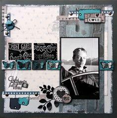 """Une page """"Cliché souvenir..."""" - DT Lorelaï Design - Le scrap de Marianne38"""