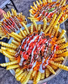 Did someone say French fries? : Gyro Fries : @HalalGuysSoCal : @PaulsFoodHaul : Visit us online for more (link in bio)!