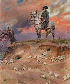 kossak, wojciech - Napoleon on the Battlefield First French Empire, Amber Tree, French Revolution, Military Art, Military Uniforms, Napoleonic Wars, Art Graphique, Les Oeuvres, Photo Art