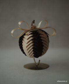 Bombka jasne złoto i czekolada - B-002