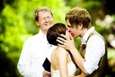 groom attire brown vest white shirt.