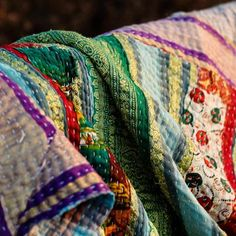 vintage kantha quilts from india