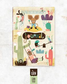 Play every day ∣ Journal cover by Lien Geeroms, via Behance