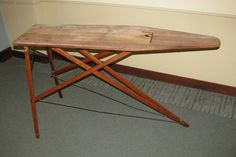 I have 5 vintage wooden ironing boards. Who knew you could hoard ironing boards??