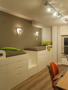 kinderzimmer gestaltung für geschwister-einbaubett teppichboden ... - Kinderzimmer Ideen Fur Geschwister