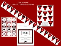 Red and black graduation printables, need to change date of year, but great printables.