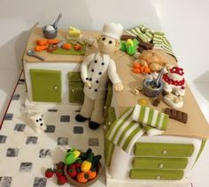 15 Best Kitchen Cakes Images Chef Cake Fondant Cakes Cookies