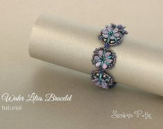 Glamorous Bracelet Czech Dome Beads Tutorial by SidoniasBeads