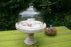 French Country Decor Vintage Glass Cloche Glass by GardenofChic