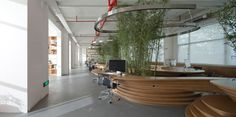 jw associates bamboo office interior shanghai designboom