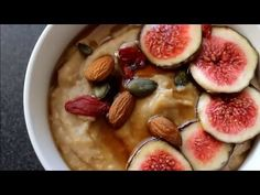 Papas de Aveia Com Chá e Figos | Oatmeal With Rooibos Tea and Figs| Joanabbl 150 - YouTube