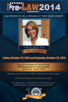 Meet Tracey West, Esq., Associate Dean for External Affairs, Diversity and Inclusion, Boston College Law School (Boston, Massachusetts), at the 10th Annual National Black Pre-Law Conference and Law Fair 2014 on Friday, October 24, 2014 and Saturday, October 25, 2014 at the Houston Marriott Westchase in Houston, Texas.    Free of charge! Everyone is welcome! Register today! www.blackprelawconference.org/ #blackprelawconference #lawyerssupportingfuturelawyers