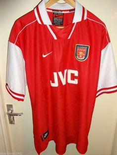 Vintage Retro Authentic Arsenal Nike JVC 1996 - 98 Football Soccer shirt XXL 99d170fd4bc3b