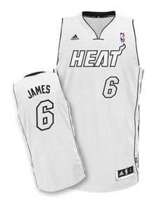 lebron james miami heat white hot jersey