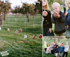 fall harvest party [entertainment] | Small Fry Donut string game; we do it with powdered donuts...the kids look SO cute covered in powdered sugar!