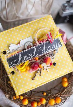"C облаками в голове..Nadya Tana Lifa: Альбом ""School Days"" Mini Albums Scrap, Mini Scrapbook Albums, Baby Scrapbook, Scrapbook Pages, Scrapbooking Ideas, Handmade Books, Handmade Crafts, Minis, Crafts With Pictures"