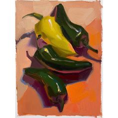 """Sarah Sedwick on Instagram: """"""""Party Peppers"""" approx. 7x9 inches, oil on Arches oil paper. Insta sale price! $50. DM me to add it to your collection. 🌶🎉⭐️ . . #art…"""" Francis Bacon, Still Life, Instagram Party, Stuffed Peppers, Inspiring Art, Arches, Paper, Painting, Oil"""