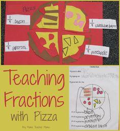 Boy Mama Teacher Mama  Teaching Fractions with Pizza