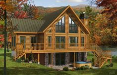 Tacoma Log Home Plan by Timber Block