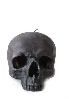 Scented Life size Skull Candle in Black. £25.00, via Etsy.
