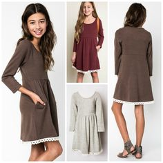 Kid's Emily Dress (available in 3 colors)